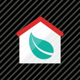 eco, house icon