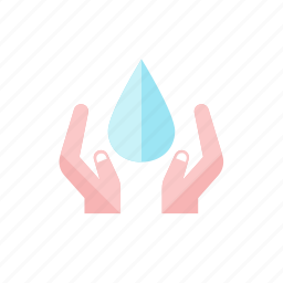 hand, water icon