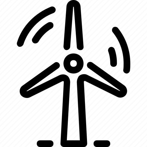 eco, energy, generator, power, turbine, wind icon