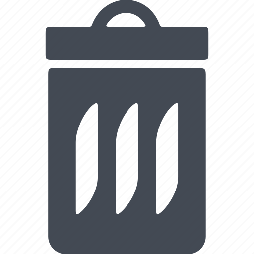 eco, ecology, trash can, waste icon