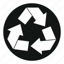 arrow, conservation, ecology, natural, recycle, recycling icon