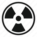 atom, danger, energy, nuclear, power, radiation, radioactivity icon