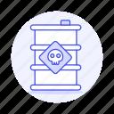 barrel, chemical, danger, dead, ecology, harmful, pollutant, pollution, skull, substance