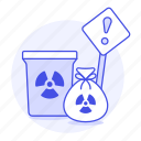 can, caution, danger, ecology, harmful, hazard, nuclear, radiation, radioactive, symbol, waste icon