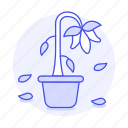 dead, dry, ecology, flower, plant, pollution, pot, wilted icon