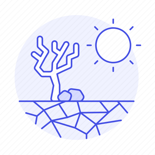 change, climate, drought, dry, earth, ecology, effect, impact, prolonged, shortage, soil, sun, tree icon