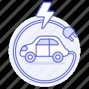 battery, cable, car, e, ecology, electric, ev, flash, phev, plug, rechargeable, transport, vehicles