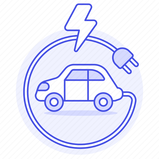 1, battery, cable, car, e, ecology, electric, ev, flash, phev, plug, rechargeable, transport, vehicles icon