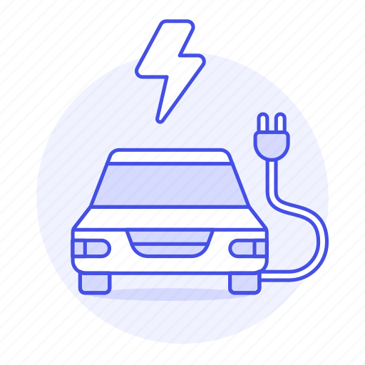 2, battery, cable, car, e, ecology, electric, ev, flash, phev, plug, rechargeable, transport, vehicles icon