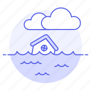 change, climate, cloud, disaster, ecology, effect, flood, house, impact, natural, sea, submerged, water
