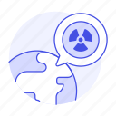 earth, ecology, global, nuclear, planet, radiation, spot, symbol, waste, world icon