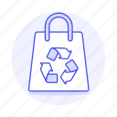 awareness, bag, ecology, emvironmental, recycle, recycling, sustainability, symbol icon
