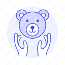 bear, ecology, face, fauna, hand, life, nature, protection, save, wildlife