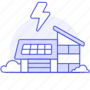 awarenes, ecology, energy, environmental, house, panel, photovoltaic, renewable, solar icon