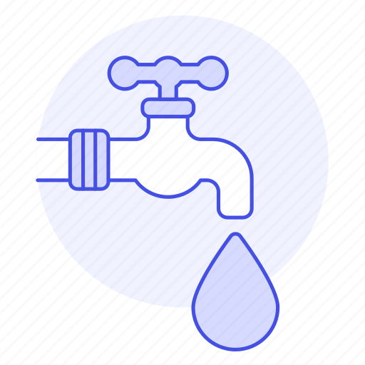 awareness, clean, drop, ecology, environmental, resource, shortage, sustainability, tap, waste, water icon