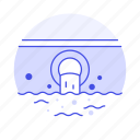 danger, ecology, green, harmful, pollutant, polluted, pollution, sewage, water icon