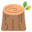 ecology, forest, stump, trees icon