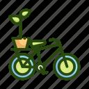 bike, ecology, nature, plant icon