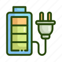 battery, charge, ecology, nature icon