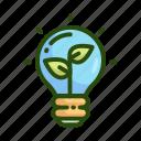 bulb, eco, ecology, light, nature icon