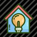 eco, ecology, home, nature, smart icon