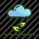 ecology, nature, plant, rain, weather icon