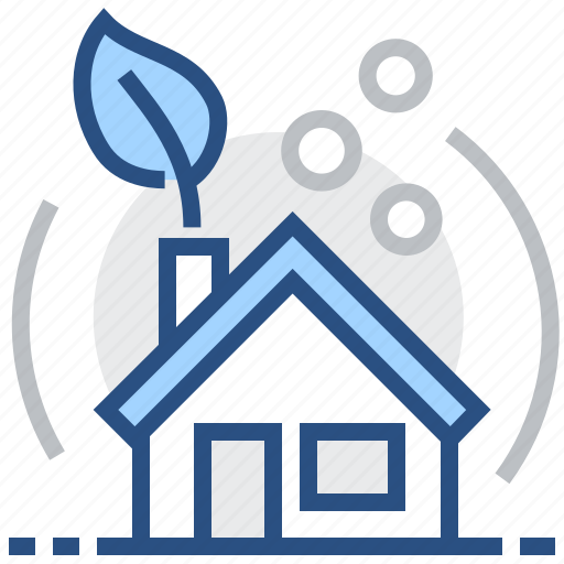 building, eco, ecological, home, house, leaf, modern icon