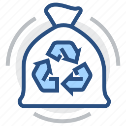 bag, bin, garbage, recycle, recycling, trash, waste icon