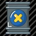 barrel, cartoon, container, drum, radioactive, toxic, waste icon