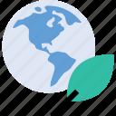 earth, globe, leaf, world icon