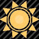 hot, summer, sun, weather icon