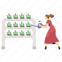 agriculture, ecology, hydroponic, farming, green, house, gardening icon