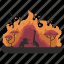 animals, ecology, wildfire, wildlife, animal, outdoors, elephant icon