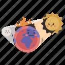 ecology, global, warming, earth, planet, sun, solar icon