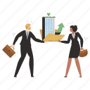 ecology, business, eco, corporate, awareness, man, woman icon
