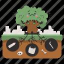 ecology, nature, tree, plastic, ecological, bag, bottle icon