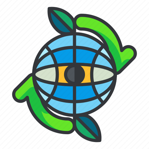 ecology, global, recycle icon