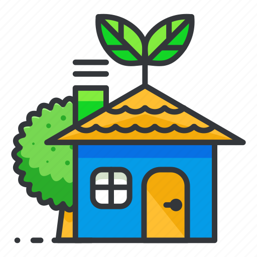 ecology, green, house, tree icon