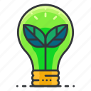 ecology, idea, lightbulb, thought icon