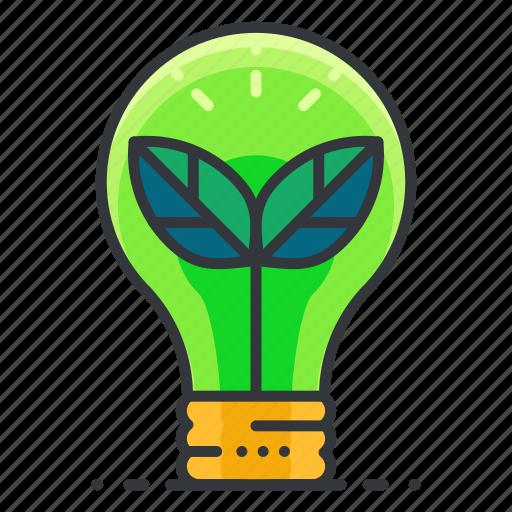 Lightbulb, thought, ecology, idea icon