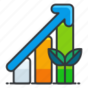 bar, chart, ecology icon