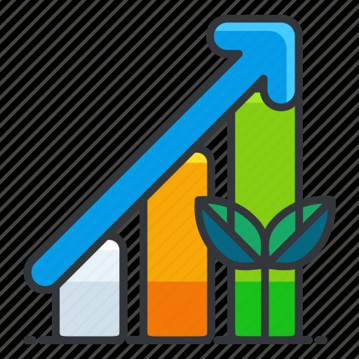 bar, chart, ecology icon