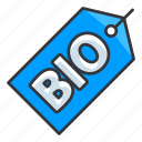 bio, biological, ecology, tag icon