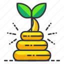 compost, ecology, grow, plant icon
