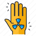 danger, ecology, hand icon