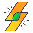 ecology, electric, leaf icon