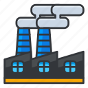 ecology, factory, production icon