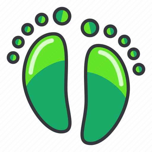 chemical, ecology, footprint icon