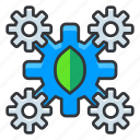ecology, gears, settings icon