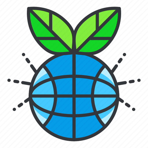 Ecology, globe, plant icon - Download on Iconfinder